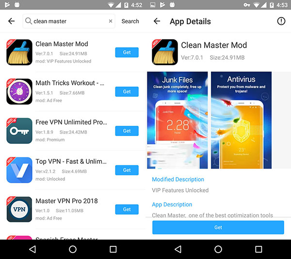 Download Clean Master Mod To Unlock VIP Features