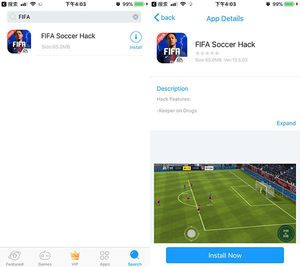 Free Download FIFA Soccer Hack iOS Without Jailbreak