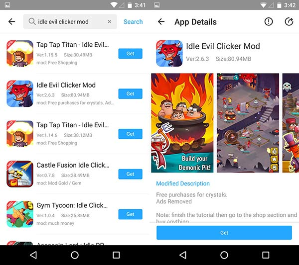 Download Idle Evil Clicker Mod Apk For Free Crystals & No Ads