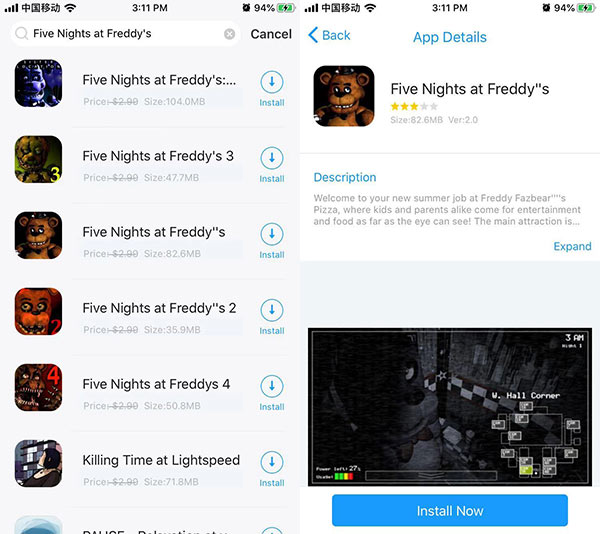Five Nights at Freddy's 1-4 Free Download