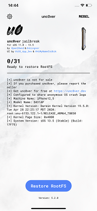 2--Tap-Restore-RootFS--button
